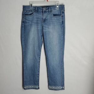 Lucky Brand Embroidered Sweet Crop Jeans